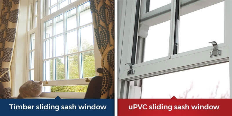 Vertical sliding sash windows materials