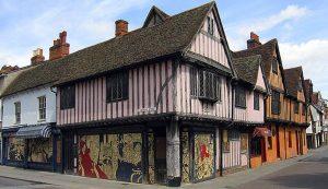 Classic Tudor buildings in Ipswich