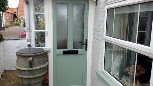 Chartwell green uPVC front door
