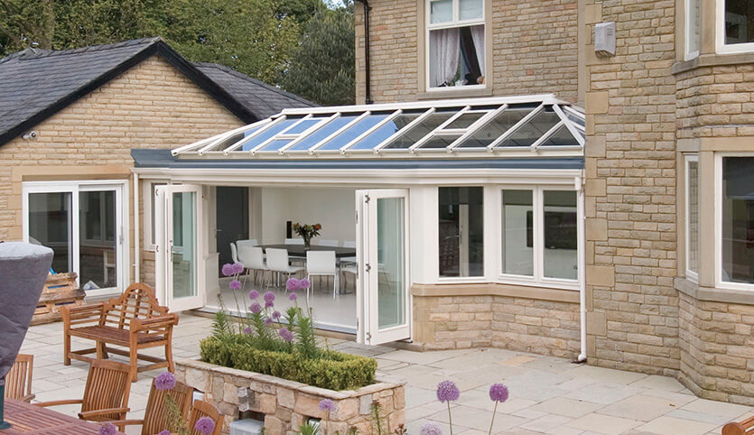 Large uPVC orangery installation