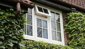 White uPVC windows with double glazing