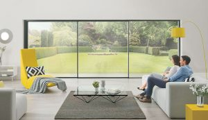 Slimline aluminium sliding patio doors