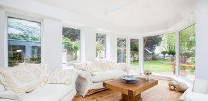 Bright light conservatory interior