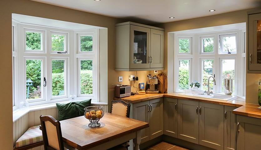 Replacement windows in a traditional inspired kitchen