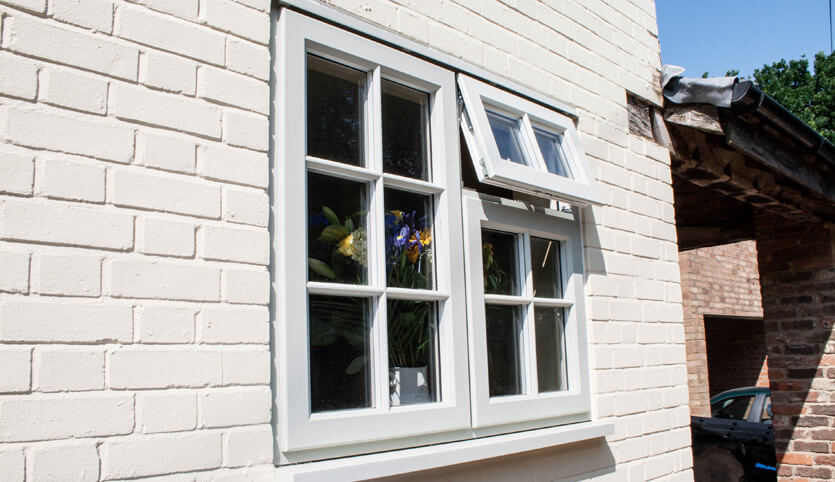 White composite conservation window