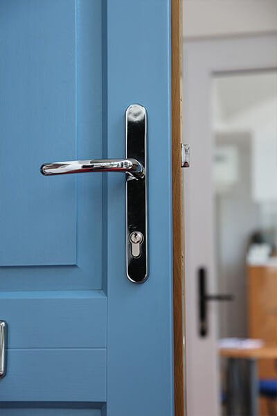 Blue Composite Door