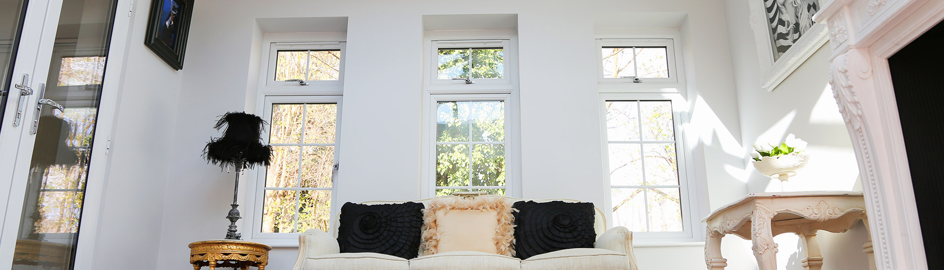 white casement windows with georgian appearance