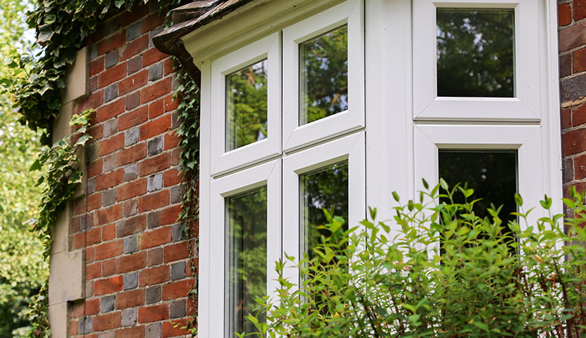 uPVC bay style windows with double glazing