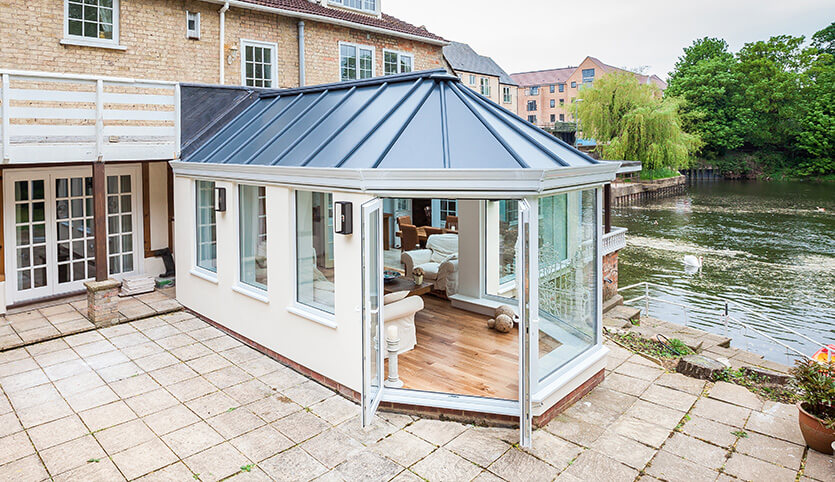 Bespoke conservatory with a LivinROOF