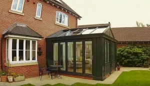 Charcoal uPVC Loggia conservatory installation