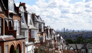 Rows of Edwardian era homes