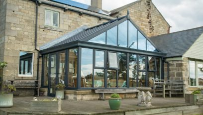 Grey Gable conservatory installation