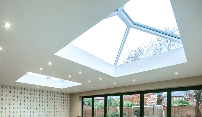 White roof lantern interior view