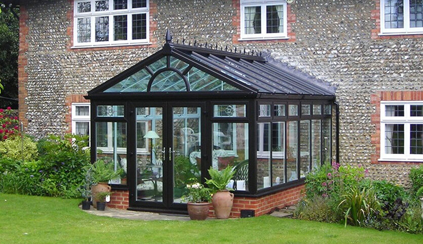 Black aluminium Gable conservatory
