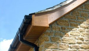 Dual colour uPVC roofline installation