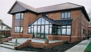 Rosewood uPVC T-Shaped conservatory