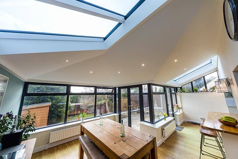 Modern home conservatory providing extra living space