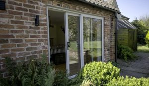 uPVC sliding patio door installation