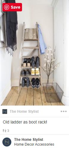 Upcycled shoe racks