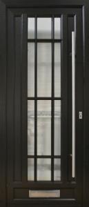 Black art deco front door.