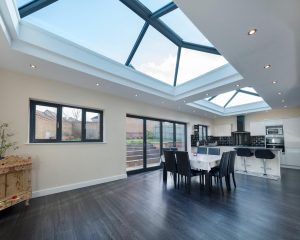 modern flat roof extension